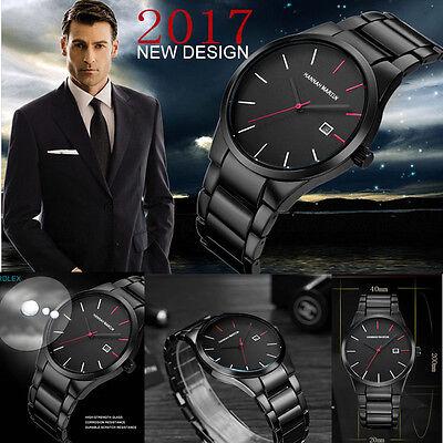 $10.59 - Luxury Mens Stainless Steel Band Formal Watches Date Analog Quartz Wrist Watch