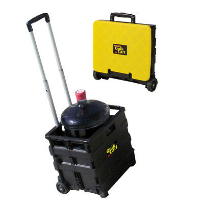 Compact Collapsible Rolling Trolley Storage Bin Quick Cart