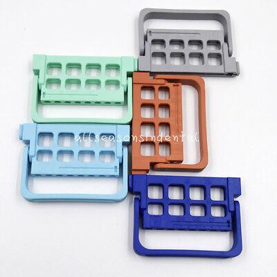 5 Color Dental Endo Files Holder Endodontic Instrument Block Stand 16 Holeruler