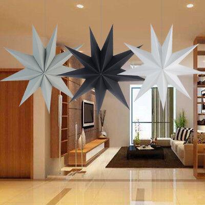 30cm Nine Angles Paper Star Hanging Christmas Lantern Home Party Craft Decor - Paper Star Lanterns