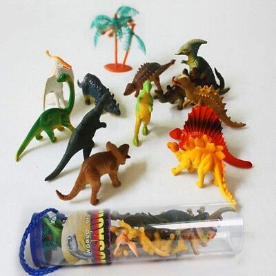 12pcs/set Dinosaur Toy Plastic Playing Animal Action Model Figures Gift For Kids