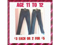 GIRLS JEANS ANCD JEGGINGS