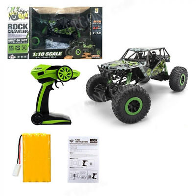 HUGE 1/10 Monster Truck 4WD Rock Crawler Remote Control RC RTR Fast Car Toy Gree
