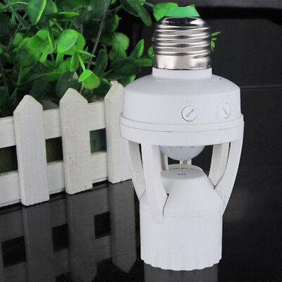 Infrared PIR Motion Sensor E26 LED Light Lamp Bulb Holder Socket Switch 110V