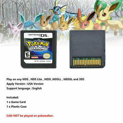 Pokemon: Diamond Version Nintendo DS Game Card Cartridges For 3DS NDSI NDS USA