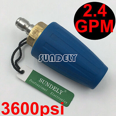 Secuda High Pressure Washer Cleaner Spray Turbo Nozzle Tip 3600psi 2.4gpm Blue