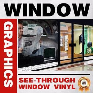 Window Graphics | Retail Storefront, Bar / Restaurant, Vehicle Windows | One Way See-Through Vinyl Window Decal