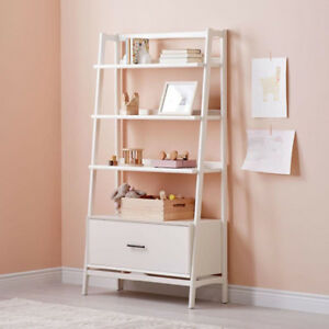 "West Elm 38"" White Bookshelf"