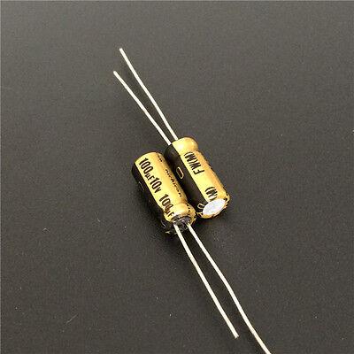 5pcs 10v100uf 10v Nichicon Fw Standard Capacitor 5x11mm For Audio