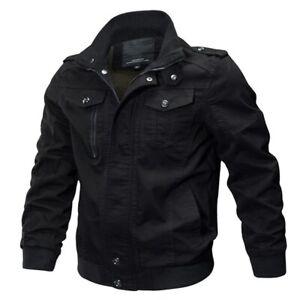 Men Casual Cotton Mens Jackets & Coats Army Men's Slim Fit Pilot Jackets