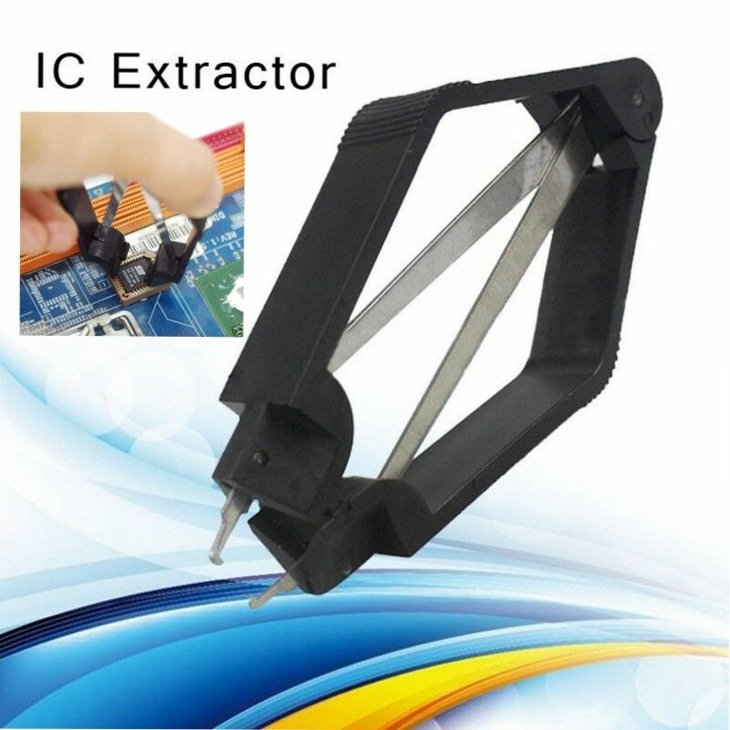 Black PLCC IC Chip Extractor Motherboard Circuit Board Component Puller Tool