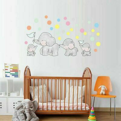 Cute Elephant Balloon Bedroom Kids Baby Room Vinyl Wall Sticker Decal Home Decor
