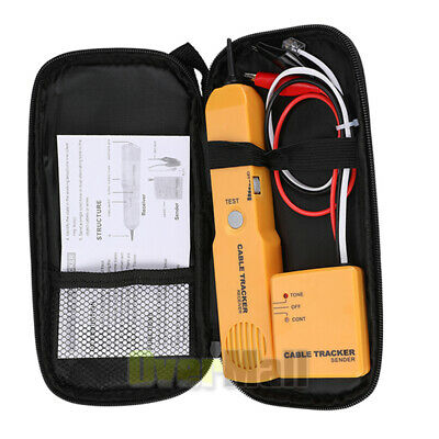 Network Line Finder Cable Tracker Tester Toner Electric Wire Tracer Pouch Kit