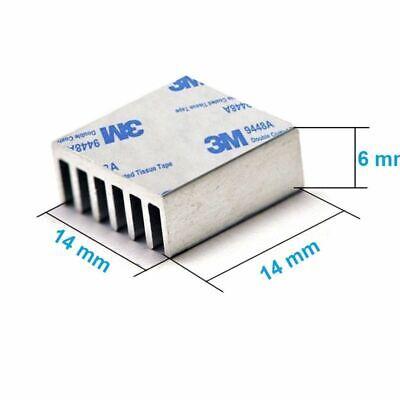 4x Disipador De Calor de Aluminio Refrigerador 14x14x6 mm para el LED,...
