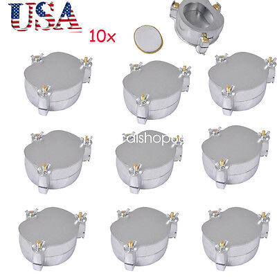 10pcs Usa Dental Denture Flask Compressor Parts Lab Press Equipment Aluminium Ce