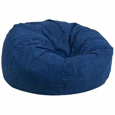 Flash Furniture Oversized Bean Bag Chair In Denim ()