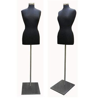 Black Female Dress Body Form With Metal Base - Bffb-m