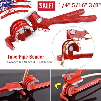 Tubing Pipe Bender 14 516 38 Tube Aluminum Copper Steel Fuel Brake Lines