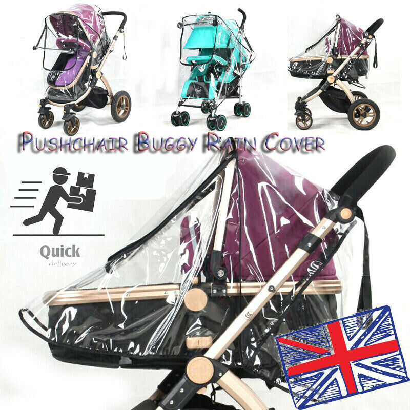 CHIC-CHIC Universal Pushchair Baby Stroller Buggy Rain Cover Wind Shield Travel Large