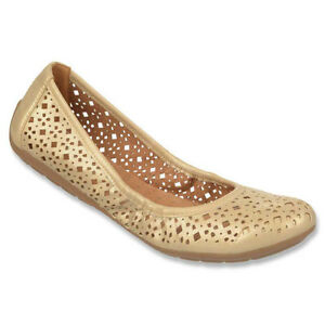 "Naturalizer ""Undone"" Ballet Flat in Gold Size 10"