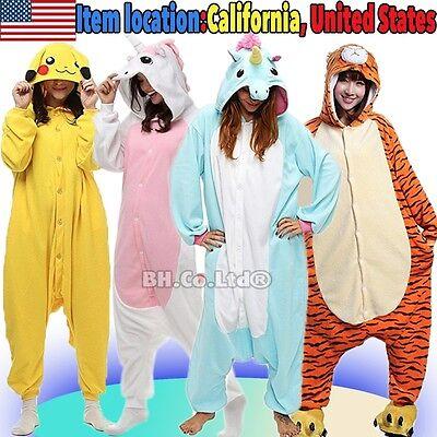 US Kigurumi Pajamas Onesie1 Anime Cosplay Costume Unisex Adult Kids Sleepwear