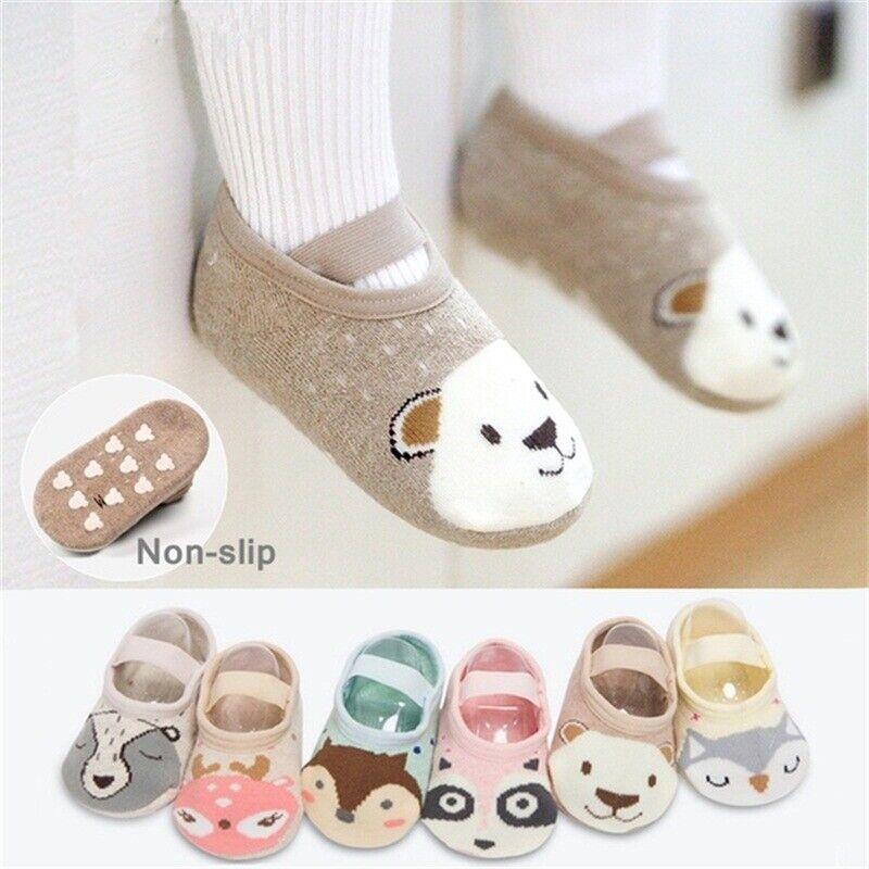 Baby Cute Cartoon Non-slip Cotton Toddler Floor Socks Kids Shoes Slipper Socks