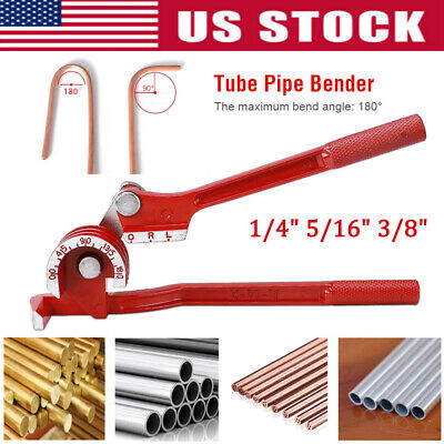 3 In 1 180 Heavy Tube Tubing Pipe Bender Aluminum Copper Steel Fuel Brake Lines