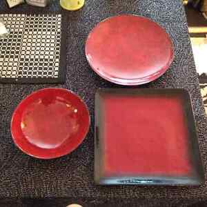 Vaisselle Rouge & Brune *** Red & Brown DIshes