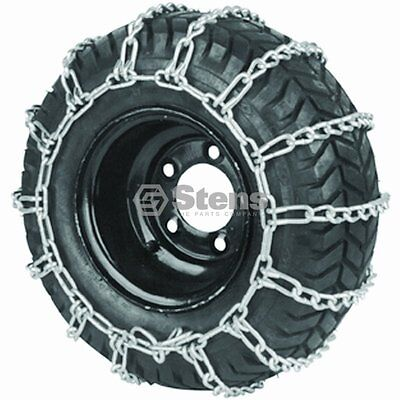 Lawn Mower Tire Chains 18 X 9.50 X 8 2-link spacing for best traction Brand