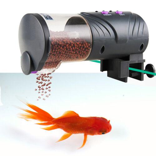 Automatic Fish Feeder Aquarium Fisch Futterautomat Durchsichtig mit Wechseln