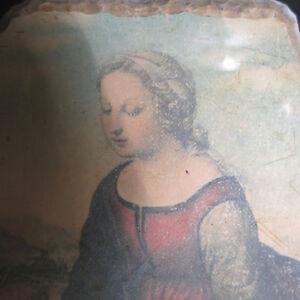 Original Paining Fresco Madonna Cherubs Colacci Baroque Picture Kitchener / Waterloo Kitchener Area image 4