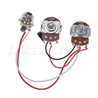 electric guitar wiring harness kit 2v2t pot jack 3 way for gibson electric guitar wiring harness prewired kit 3 way toggle switch 1v 1t 500k jack gbp 7 99