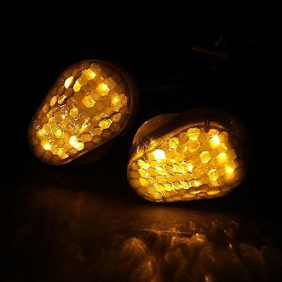 LED Amber Turn Signals Lights  For Kawasaki ZX6R 1998-2004/ZX12R 2000-2005 01 02