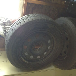 """17"""" steel rims with tires"""