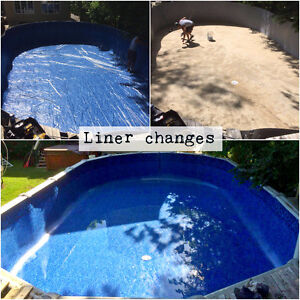 Above the ground pools: Liner changes & Installations