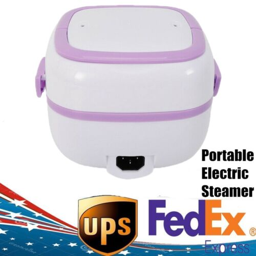 110V Electric Lunch Box Mini Rice Cooker Steamer for Student