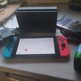Nintendo switch plus minecraft game