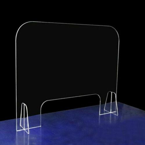 Clear Acrylic Sneeze Guard Barrier Divider Shield Countertop Plastic Desktop