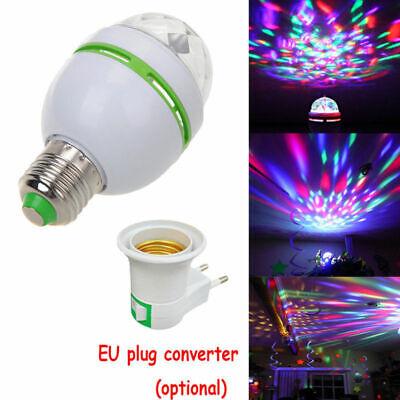 3W E27 RGB Crystal Ball Auto Rotating LED Stage Light Bulb Disco Party Lamp CHZ - Led Crystal Ball