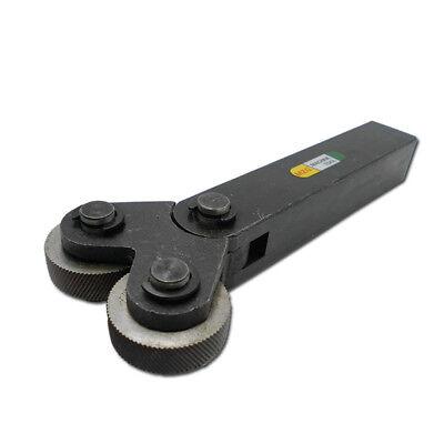 1pcs Knurling Tool 1.5mm Pitch Dual Wheel 26 X 8mm Slant Teeth For Metal Lathe