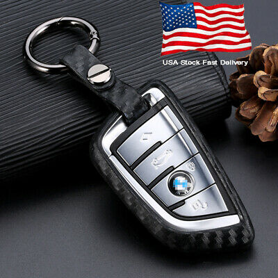 Car Key Case Carbon Fiber Scratch Proof Accessories For BMW 5 7 Series X3 X5 X6