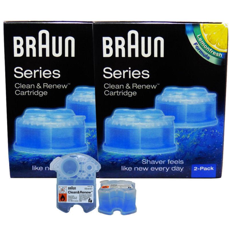 4x Braun Reinigungskartuschen CCR Clean & Renew Lemonfresh Series 9 Series 7