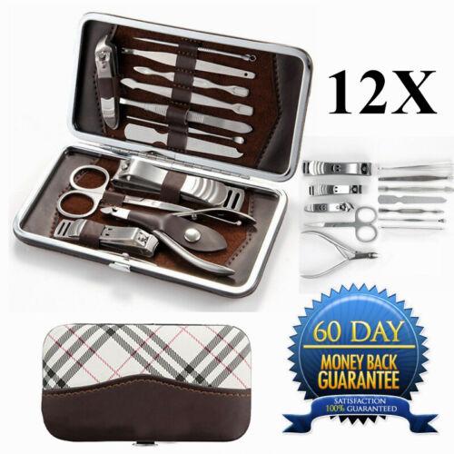 Portable Travel Kit 12 PCS Pedicure / Manicure Set Nail Clip