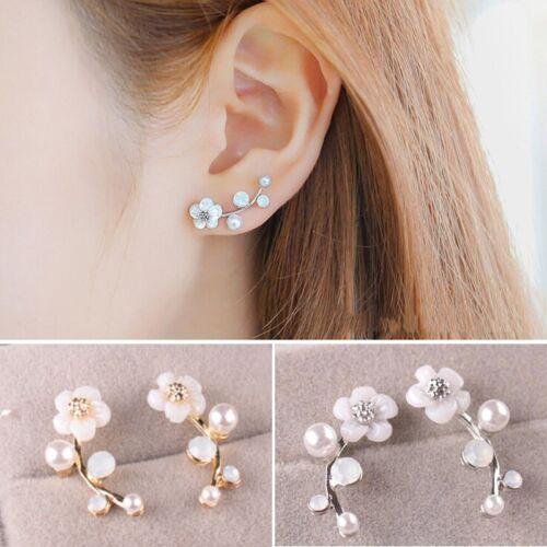 Jewellery - 1 Pair Fashion Pearl Flower Ear Stud Earrings Elegant Women Jewelry Gift Party