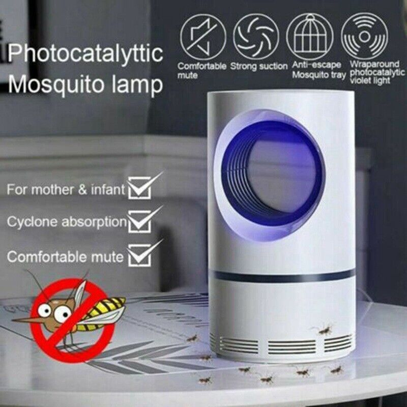 US Mosquito And Flies Killer Trap Suction Fan No Zapper Child Safe Suitable F
