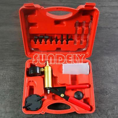Vacuum Tester Pump Brake Bleeding Kit for Cars Clutch Motorcycles UK Handheld