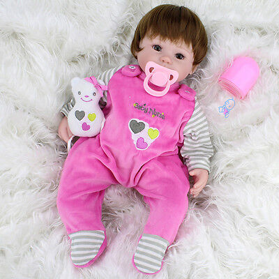Realistic Handmade Baby Girl Doll Newborn Vinyl Silicone