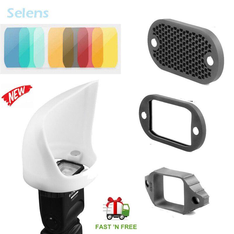 Selens 2-in-1 Magnetic Flash Modifier Light Bounce Reflector & Basic Kit US
