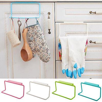 Badezimmer Schrank Handtuch Rack (1x Handtuchhalter Bar Hängehalter Badezimmer Küche Schrank Shelf Rack Kunststoff)