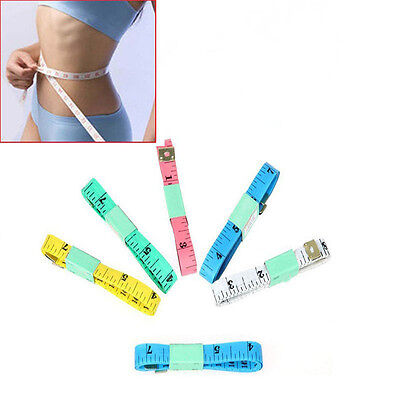 New 2X Body Measuring Ruler Sewing Cloth Tailor Tape Measure Soft Flat